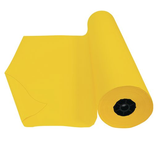 "Colorations® Dual Surface Paper Roll, Yellow, 36"" x 1000'"