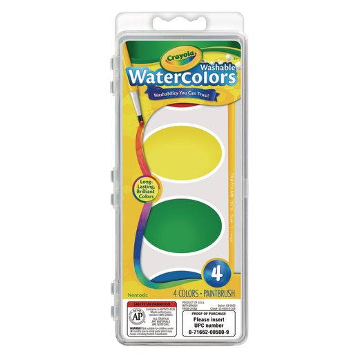 Crayola® Jumbo Washable Watercolors