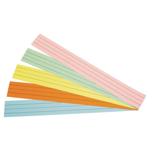 Assorted Colors Double-Sided Sentence Strips - 100 Strips