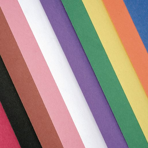 "Assorted Colors 9"" x 12"" Heavyweight Construction Paper Pack - 50 Sheets_0"