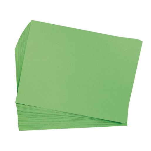 "Bright Green 9"" x 12"" Heavyweight Construction Paper Pack 50 Sheets"