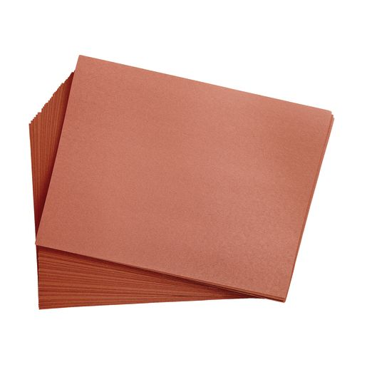 "Brown 9"" x 12"" Heavyweight Construction Paper Pack - 50 Sheets"