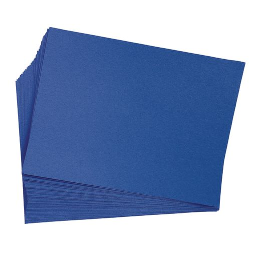"Dark Blue 9"" x 12"" Heavyweight Construction Paper Pack - 50 Sheets"