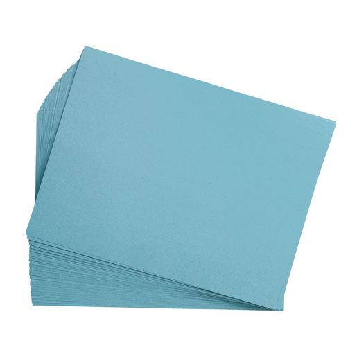 "Sky Blue 9"" x 12"" Heavyweight Construction Paper Pack - 50 Sheets"