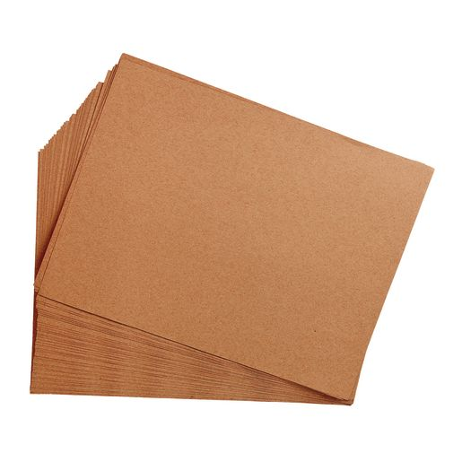 "Light Brown 9"" x 12"" Heavyweight Construction Paper Pack - 50 Sheets"