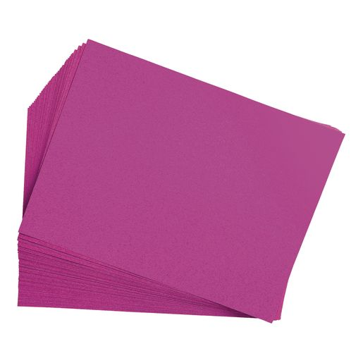 Image of Magenta 9 x 12 Heavyweight Construction Paper Pack - 50 Sheets