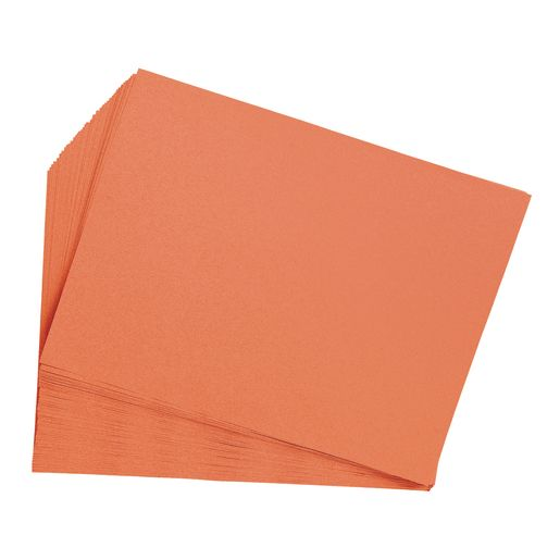"Orange 9"" x 12"" Heavyweight Construction Paper Pack - 50 Sheets"
