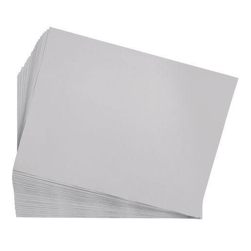 "Gray 9"" x 12"" Heavyweight Construction Paper Pack - 50 Sheets"
