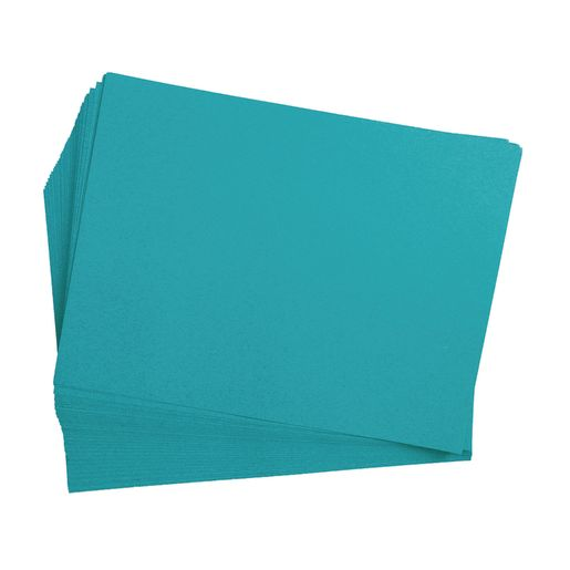 "Turquoise 9"" x 12"" Heavyweight Construction Paper Pack - 50 Sheets"