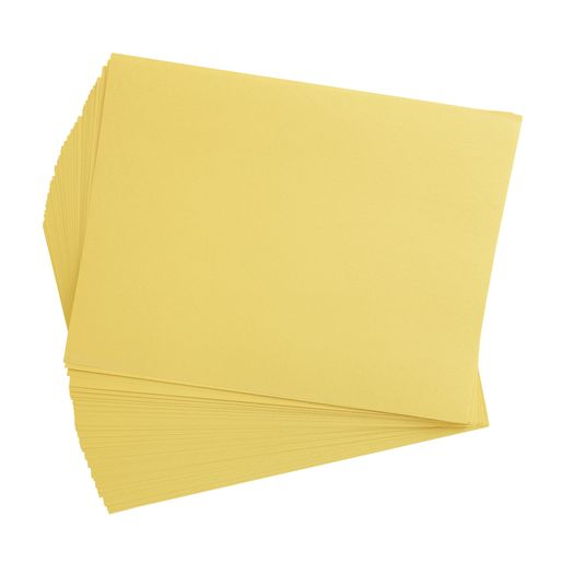 "Yellow 9"" x 12"" Heavyweight Construction Paper Pack 50 Sheets"