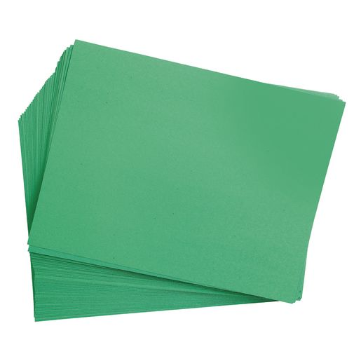 "Holiday Green 12"" x 18"" Heavyweight Construction Paper"