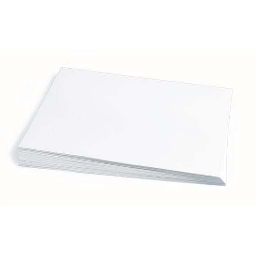 "White 12"" x 18"" Heavyweight Construction Paper"