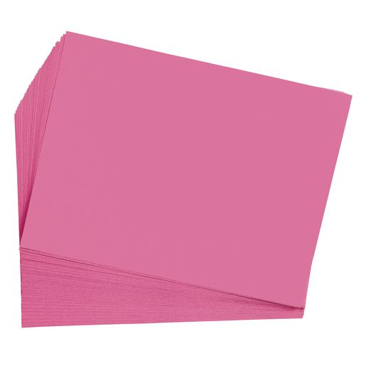 "Hot Pink 12"" x 18"" Heavyweight Construction Paper"