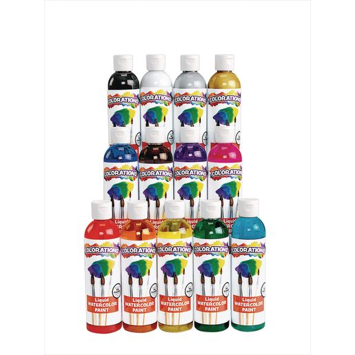 Colorations® Classic Colors Liquid Watercolor Paints, 8 oz. - Set of 13