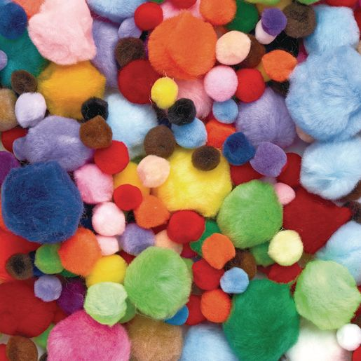 Image of Colorations Big Bag of Pom-Poms - 1 lb.