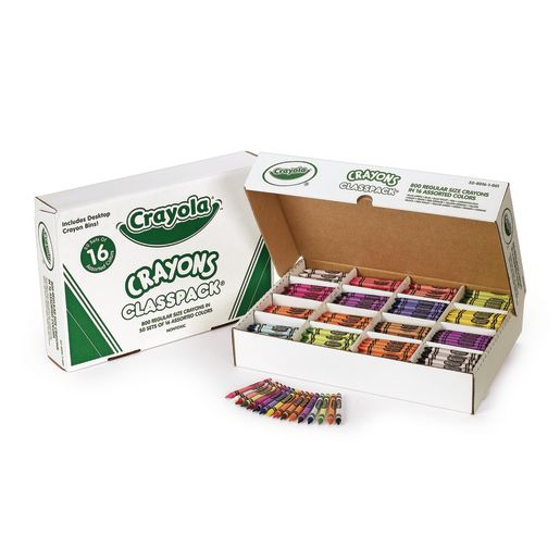 Image of Crayola Regular Crayons Classpack - 16 Colors, Set of 800