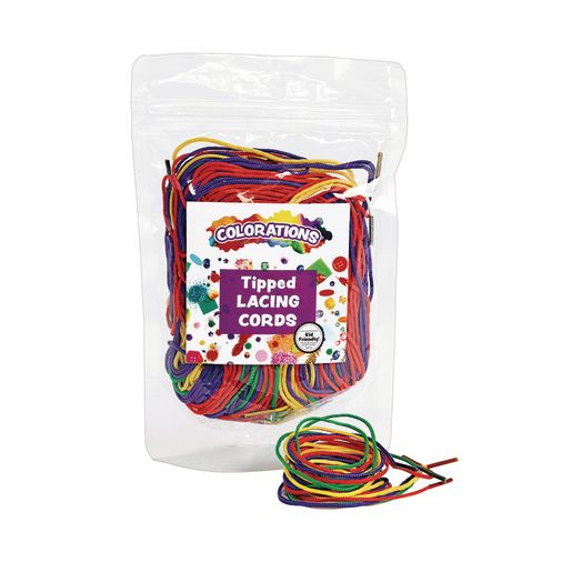 Tipped Lacing Cords - 72 Pieces