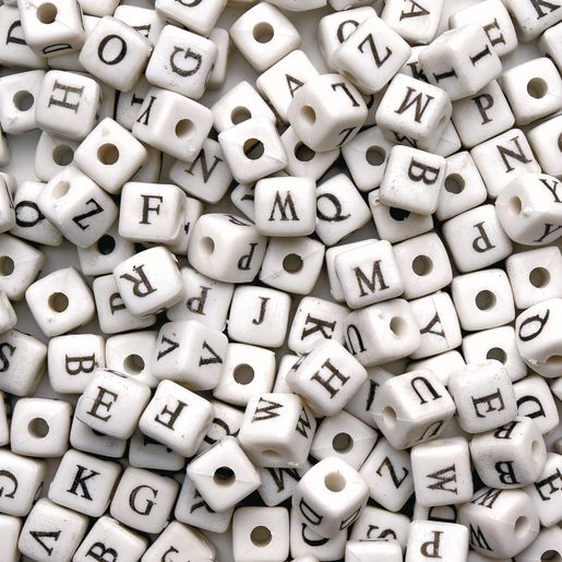 Image of Colorations Jumbo Alphabet Beads - 260 Pieces