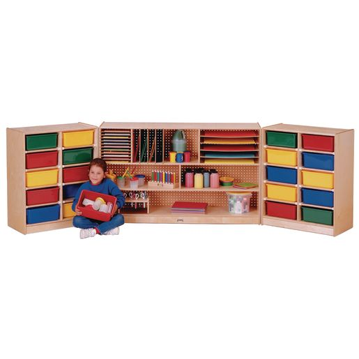 Triple Fold-n-Lock Storage Unit With Assorted Trays