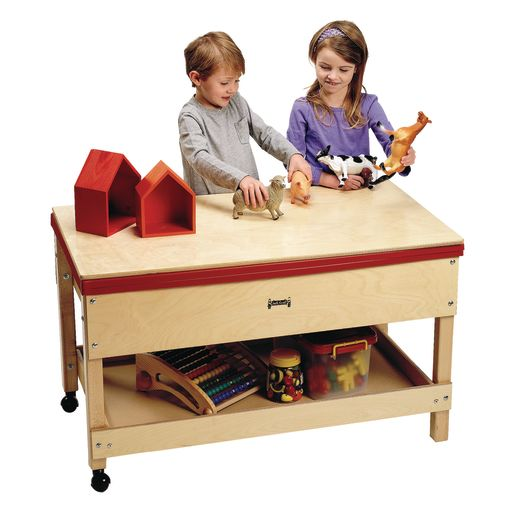 "24"" High Sand & Water Table with Shelf"