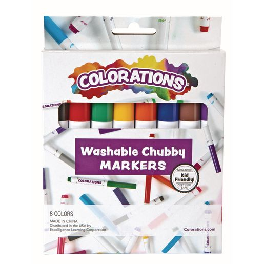 Image of Colorations Washable Chubby Markers - Set of 8