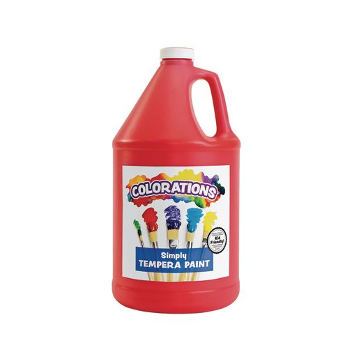 Colorations® Simply Tempera Paint, Red - 1 Gallon