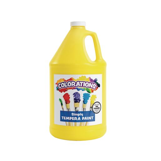 Image of Colorations Simply Tempera Paint, Yellow - 1 Gallon