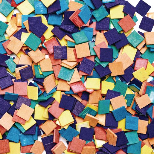Image of Colorations Wood Mosaic Squares - 1,000 Pieces