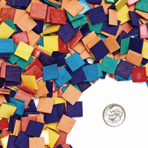 Colorations® Wood Mosaic Squares - 1,000 Pieces