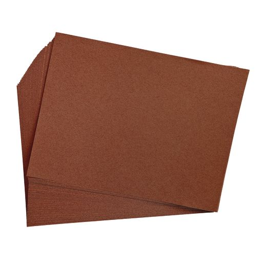 "Dark Brown 9"" x 12"" Heavyweight Construction Paper Pack - 50 Sheets"