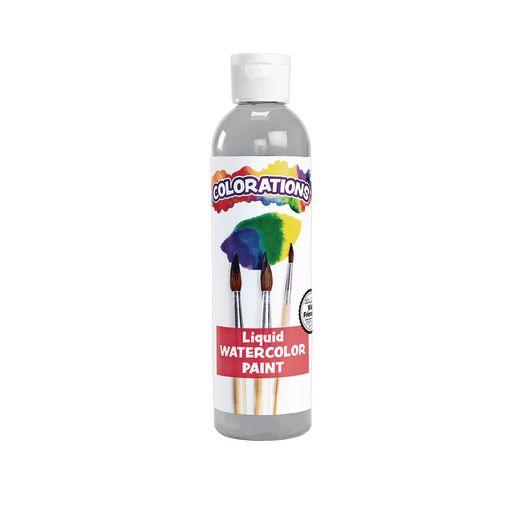 Colorations® Liquid Watercolor? Paint, Gray - 8 oz.