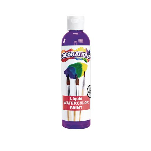 Image of Colorations Liquid Watercolor Paint, Purple - 8 oz.