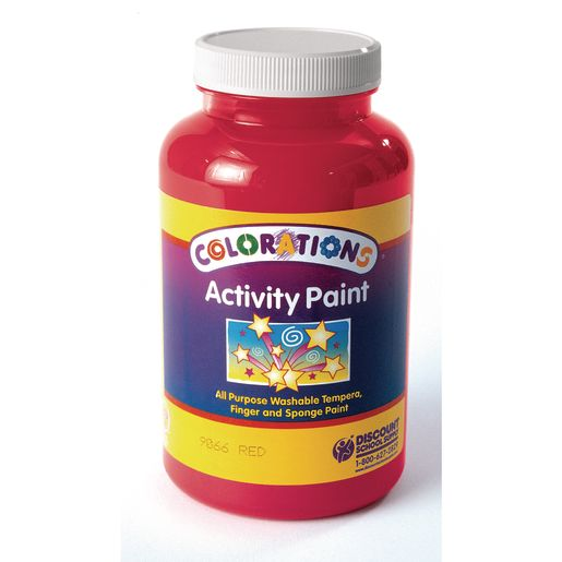 Colorations® Activity Paint, Red - 16 oz.
