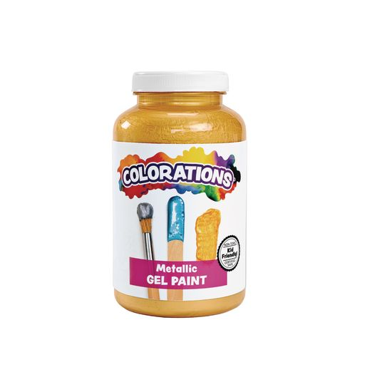 Image of Colorations Metallic Gel Paint, Gold - 16 oz.
