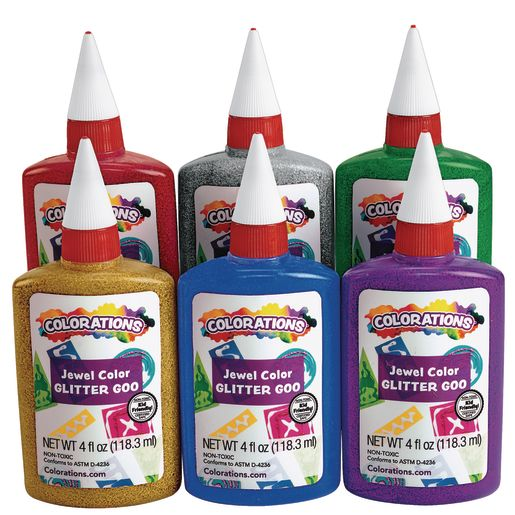 Image of Colorations Glitter Glue - Set of 6