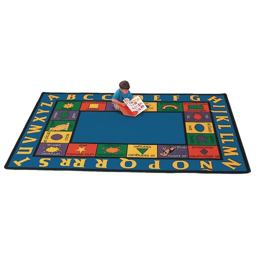 "Bilingual 5'10"" x 8'4"" Rectangle Premium Carpet"