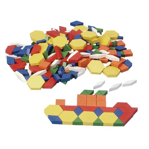 Excellerations® Wood Pattern Blocks - 250 Pieces_0