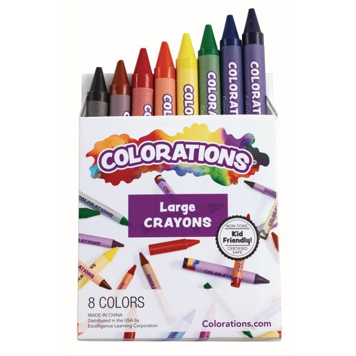 Colorations® Large Crayons - Set of 8