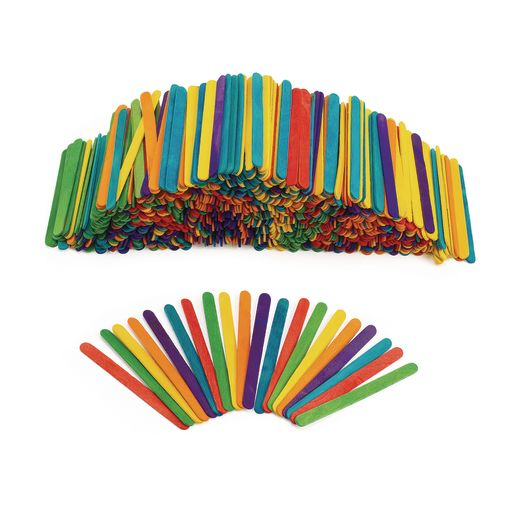 Colorations� Colored Wood Craft Sticks - 1,000 Pieces