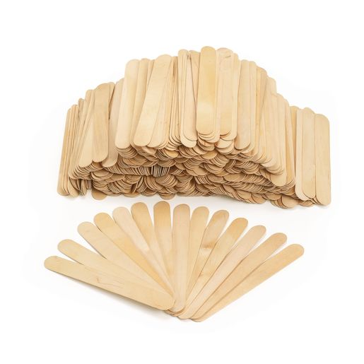 Image of Colorations Jumbo Wood Craft Sticks - 500 Pieces