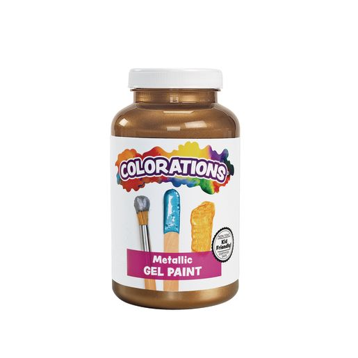 Image of Colorations Metallic Gel Paint, Copper - 16 oz.