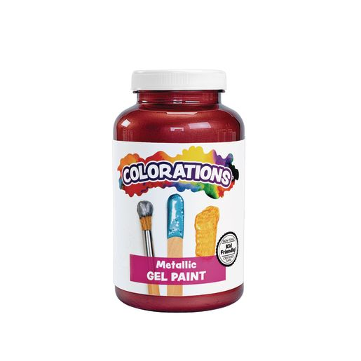 Image of Colorations Metallic Gel Paint, Russet - 16 oz.