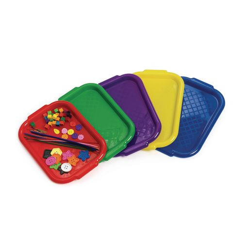 Colorations® Brawny Tough Plastic Art Trays - Set of 5