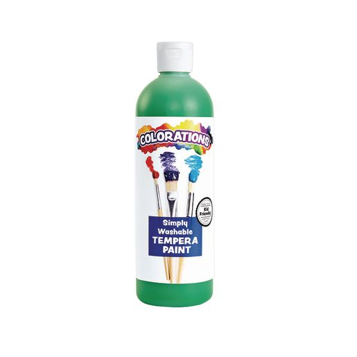 Image of Colorations Green Simply Washable Tempera, 16 oz.