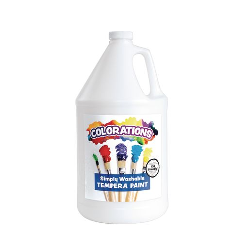 Colorations® Gallon of White Simply Washable Tempera Paint