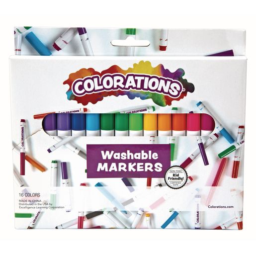 Image of Colorations Washable Classic Markers, Set of 16