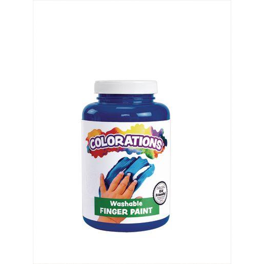 Image of Colorations Washable Finger Paint, Blue - 16 oz.