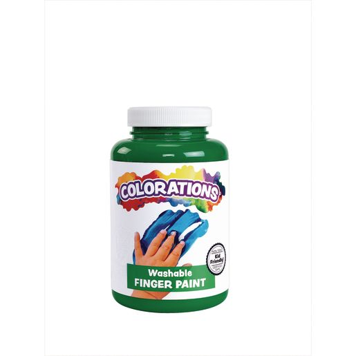 Image of Colorations Washable Finger Paint, Green - 16 oz.