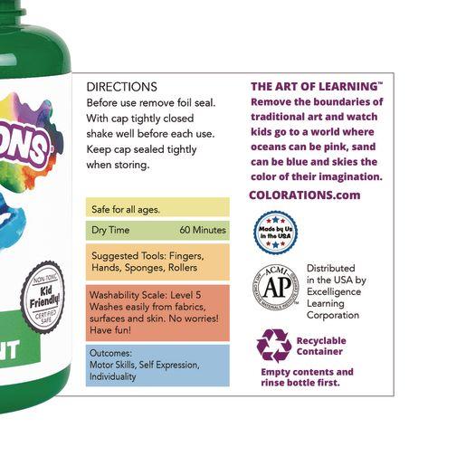 Colorations® Washable Finger Paint, Violet - 16 oz.