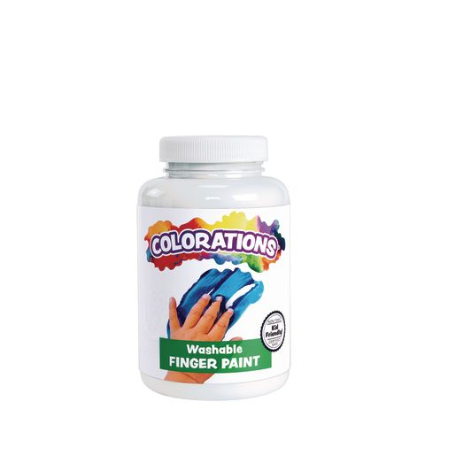 Image of Colorations Washable Finger Paint, White - 16 oz.